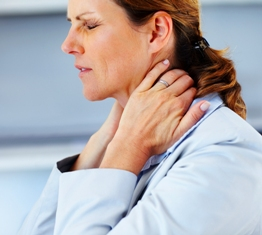 chiropractic patient with neck pain